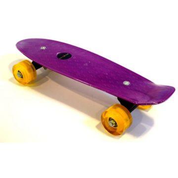 """Детский мини-круизер Ecoline Astro 17"""" со светящимися колесами (фиолетовый)"""