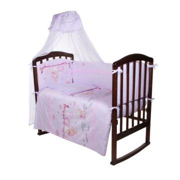 Комплект постельного белья Ifratti 110х140см (7 предметов, сатин, хлопок) Мишутка на розовом