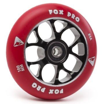 Колесо для самоката FOX 100 мм (черный/красный)