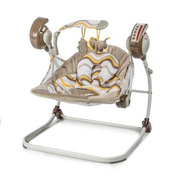 Электрокачели Baby Care Flotter с пультом ДУ (желтые)