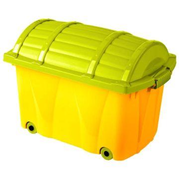 Сундучок на колёсах OKT (Абрикос/Зелёный)