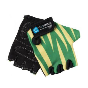 Велоперчатки Crazy Safety (Green Tiger)