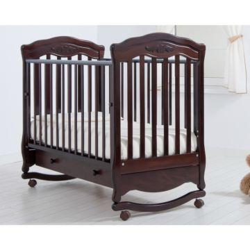Кроватка детская Гандылян Шарлотта (качалка-колесо) (махагон)
