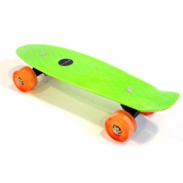 """Детский мини-круизер Ecoline Astro 17"""" со светящимися колесами (зеленый)"""