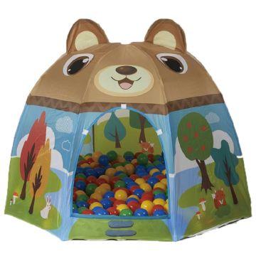 Детская палатка Calida с шарами Мишка в лесу