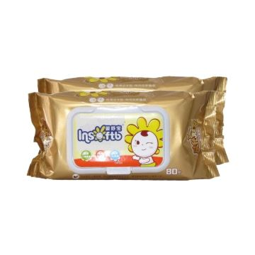 Влажные салфетки для детей Insoftb 2 упаковки по 80 шт.