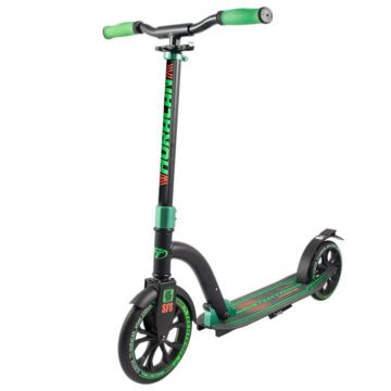 Самокат TechTeam Huracan с регулировкой руля (черно-зеленый) ДИСКОНТ