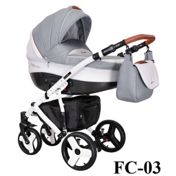 Коляска 3 в 1 Coletto Florino Carbon (FC-03)