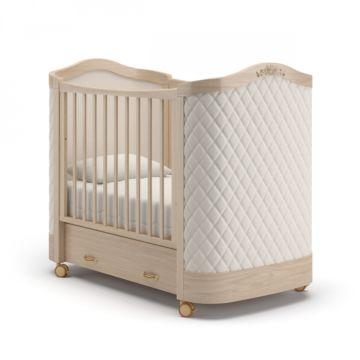 Кроватка детская Гандылян Тиффани с ромбиками (колесо) Бук
