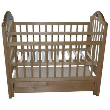 Кроватка детская Briciola 10 с продольным маятником (орех)