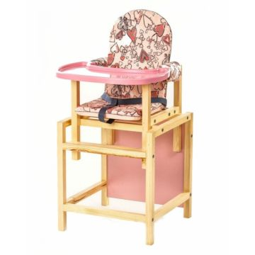 Стул-стол для кормления Вилт СТД 07 Пластиковая столешница (розовый)