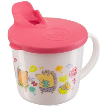 Поильник Happy Baby Basic Training Cup с крышкой (Красный)