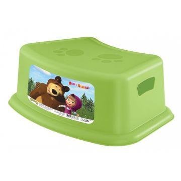 Подставка для ног Бытпласт Пластишка Маша и Медведь (Зелёный)
