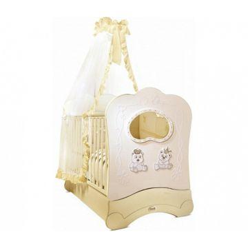 Кроватка детская Feretti FMS Majesty Brilliante (продольный маятник) (слоновая кость)