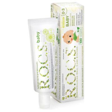 Зубная паста R.O.C.S. Нежный уход (от 0-3 лет) Душистая ромашка