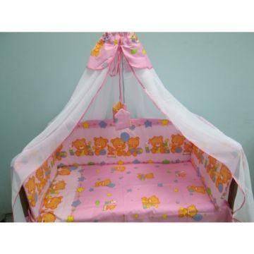 Комплект постельного белья Луняшки Игрушки 150х110см (3 предмета, хлопок) (розовый)