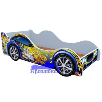 Кровать-машина Кроватка5 Машинки (Синий дракон)
