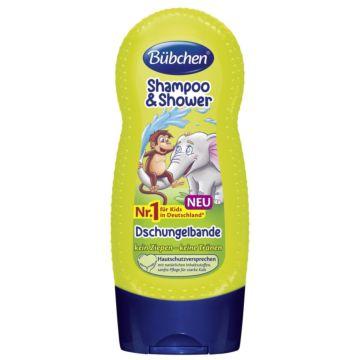 Шампунь для мытья волос и тела Bubchen Джунгли зовут 230 мл
