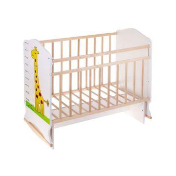 Кроватка детская ВДК Морозко (колесо-качалка/поперечный маятник) (жираф)