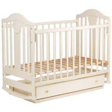 Кроватка детская Наполеон New с поперечным маятником (ваниль)
