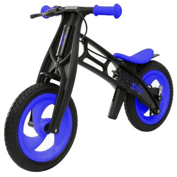 Беговел Hobby Bike FLY B (шины - волна) (синий/черный)