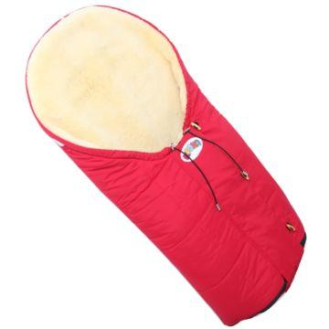 Меховой конверт для коляски Кроха Siberia Red