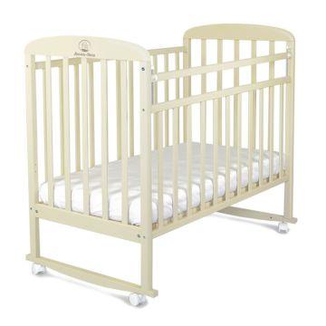 Кроватка детская Альма-Няня Венеция (качалка-колесо) (бежевый)