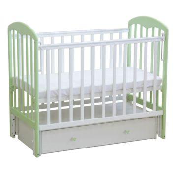 Кроватка детская Фея 328 светлая (универсальный маятник) (Белый-мята)