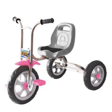 """Трехколесный велосипед Galaxy Лучик с ПВХ-колесами 10"""" и 8"""" (розовый)"""