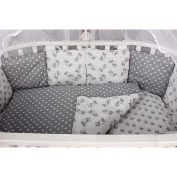 Комплект постельного белья AmaroBaby Мимими (18 предметов, бязь) (серый)