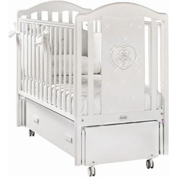 Кроватка детская Feretti Mon Amour Swing (продольный маятник) (белая)