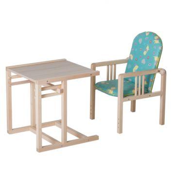Стул-стол для кормления Гном (бирюзовый)