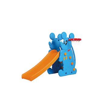 Горка детская QiaoQiao Toys Микки с баскетбольным кольцом (Голубой)