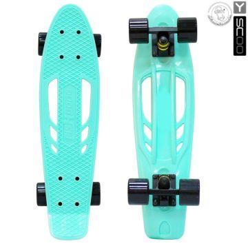 """Мини-круизер Y-Scoo Fish Skateboard Fishbone 22"""" с сумкой (aqua)"""
