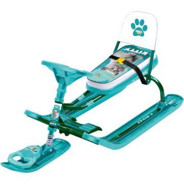 Снегокат Ника Детям Тимка спорт ТС4-1 Kitty (зеленый каркас)