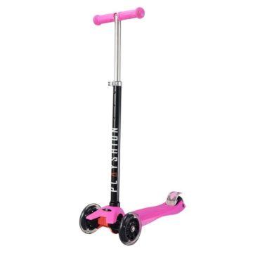 Самокат Playshion Maxi Kids FS-MS002L со светящимися колёсами (Розовый)