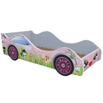 Кровать-машина Кроватка5 Машинки (Собачки на лужайке)