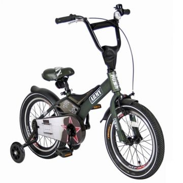 "Детский велосипед Velolider Rush Army 16"" (зеленый)"