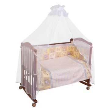 Бампер для кроватки Сонный Гномик Считалочка (бежевый)