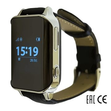 Часы с GPS-трекером SmartBabyWatch D100 (серебряные)