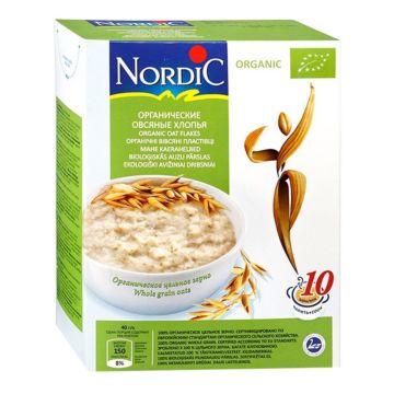 Каша Nordic овсяные хлопья органические 600 г