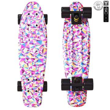 """Мини-круизер Y-Scoo Fish Skateboard Print 22"""" с сумкой Rhombus"""