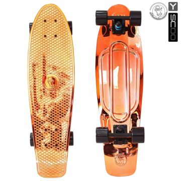 "Мини-круизер Y-Scoo Fish Skateboard Metallic 27"" с сумкой (orange) ДИСКОНТ"