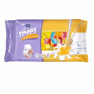 Влажные салфетки для детей Bella Baby Happy Молоко и Мёд 64 шт