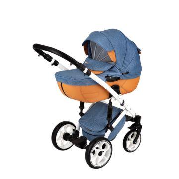 Коляска 2 в 1 BabyWorld Prometeusz Foxy Blue