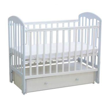 Кроватка детская Фея 328 светлая (универсальный маятник) (Белый лазурь)