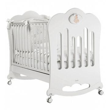 Кроватка детская Feretti Luxor (качалка-колесо) (белая)