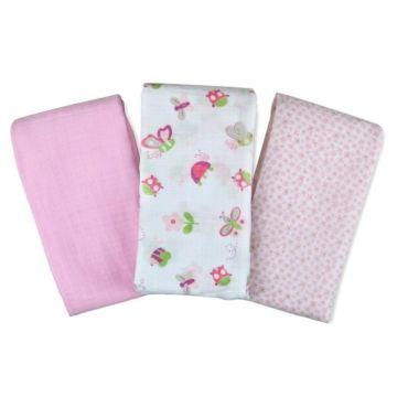 Комплект пеленок Summer Infant Muslin Swaddleme (розовый/бабочки)