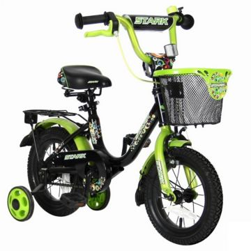 """Детский велосипед Velolider Stark 12"""" Черный/Зеленый"""