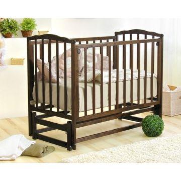 Кроватка детская Можга Кристина (продольный маятник) (шоколад)